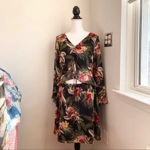 Dresses & Skirts - Sam Edelman Floral Chiffon Dress